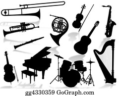 Musical-Notes - Musical Instruments Silho