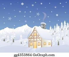 Cabin - Alpine Cabin In Winter