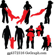 Babies-And-Toddlers-Silhouettes - Happy Family