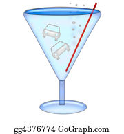 Martini-Glass - Drink And Drive