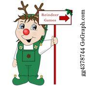 Antler - Elf & Reindeer Games Sign