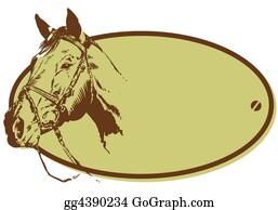 Antler - Horse Riding Club Style Banner Illustration