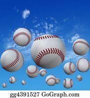 Baseball - Baseballs Set In High Cloud Sky