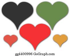 Unusual-Valentine - Coloured Hearts