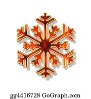 Christmas-Gold - Red And Gold Christmas Flake