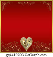 Golden-Love-Hearts - Valentines Card