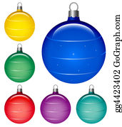Six-Spheres-Balls-Illustration-With - Christmas Globes