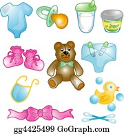 Safety-Pins-And-Diaper - Baby Icons Set