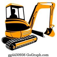 Roadworks - Mechanical Digger