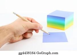 Memo-Pad - Hand And Pencil