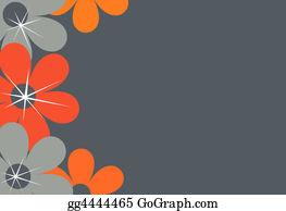 Orange-Border - Flower Border, Background