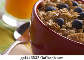 Boysenberry - Bowl Of Granola And Boysenberries