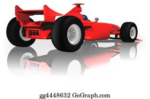 Formula-1-Racing-Car - Ferrari F1 From Back