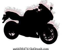 Motorcycle - Silhouette Motorcycle On