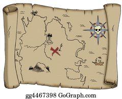 Treasure - Blank Treasure Map