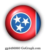 Memphis - Button Usa State Flag