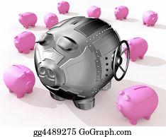 Bank-Vault - Steel Piggy Bank