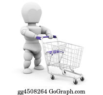 Trolley - Person With Shopping Trolley