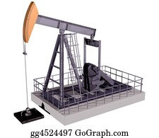Drilling-Rig - Isolated Oil Rig