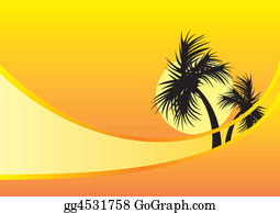 A-Palm-Tree-Sign-In-Yellow-And-Black - Two Palm Trees