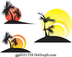 A-Palm-Tree-Sign-In-Yellow-And-Black - Palm Trees On A Sunset