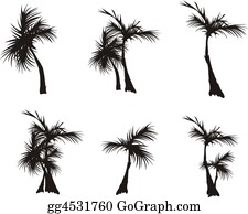 Palm-Tree - Silhouettes Of Palm Trees