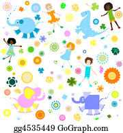 Blue-Elephant - Background For Kids