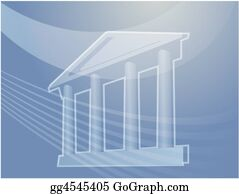 Government-And-Economy - Grand Building With Pillars Illustration