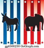 Blue-Elephant - American Election Illustration