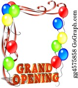 Announcement - Grand Opening Balloons Template