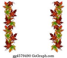 Fall-Harvest-Background - Autumn Fall Leaves Border Frame