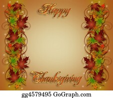 Fall-Harvest-Background - Thanksgiving Fall Leaves Border