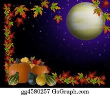 Fall-Harvest-Background - Autumn Harvest Moon Background