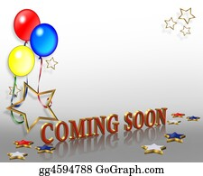 Announcement - Coming Soon Balloons Background
