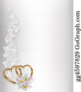 Valentine-Border-Hearts-Frame - Wedding Invitation Border White Sat