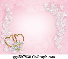 Valentine-Border-Hearts-Frame - Wedding Invitation Background Pink