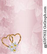 Valentine-Border-Hearts-Frame - Wedding Invitation Pink Satin