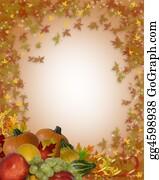 Fall-Harvest-Background - Thanksgiving Autumn Border