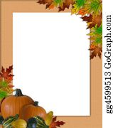 Fall-Harvest-Background - Thanksgiving Autumn Fall Frame