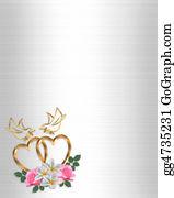 Valentine-Border-Hearts-Frame - Gold Hearts Wedding Design