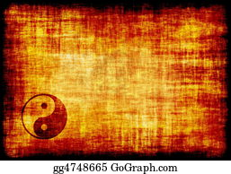 Yinyang - Yin Yang Engraved On A Parchment