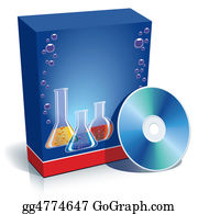 Chemical-Laboratory - Box With Laboratory Glasses And Cd