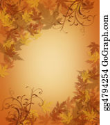 Fall-Harvest-Background - Autumn Fall Leaves Border