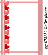 Valentine-Border-Hearts-Frame - Valentines Day Hearts Border