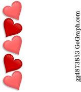 Valentine-Border-Hearts-Frame - Valentines Day Border Hearts 3d
