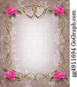 Valentine-Border-Hearts-Frame - Pink Roses Wedding Border