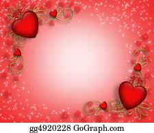 Valentine-Border-Hearts-Frame - Valentines Day Border
