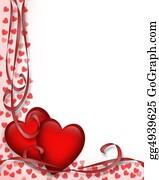 Valentine-Border-Hearts-Frame - Valentines Day Red Hearts Border
