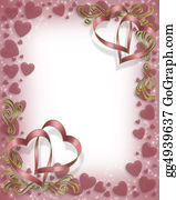 Valentine-Border-Hearts-Frame - Valentine Ribbon Hearts Border