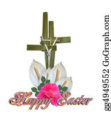 Christ-Is-Risen - Easter Cross Graphic Isolated
